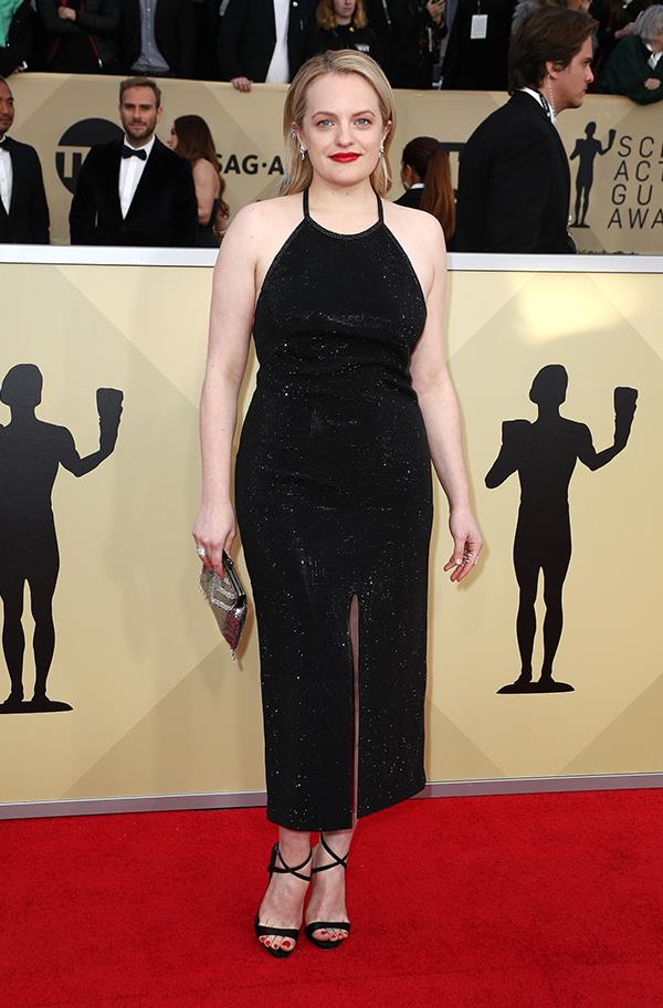 Elisabeth Moss at the 2018 SAG Awards.