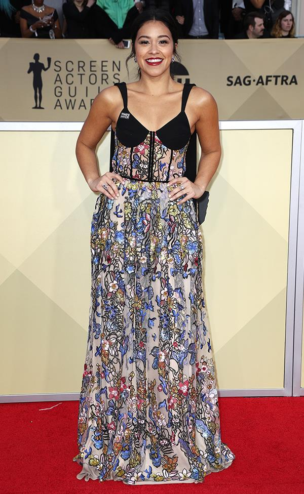 Gina Rodriguez at the 2018 SAG Awards.