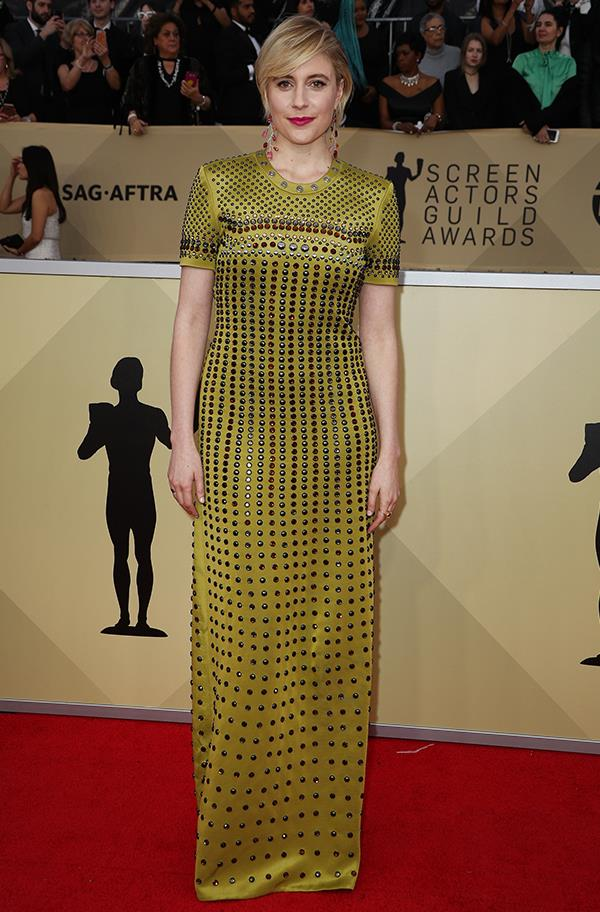 Greta Gerwig at the 2018 SAG Awards.
