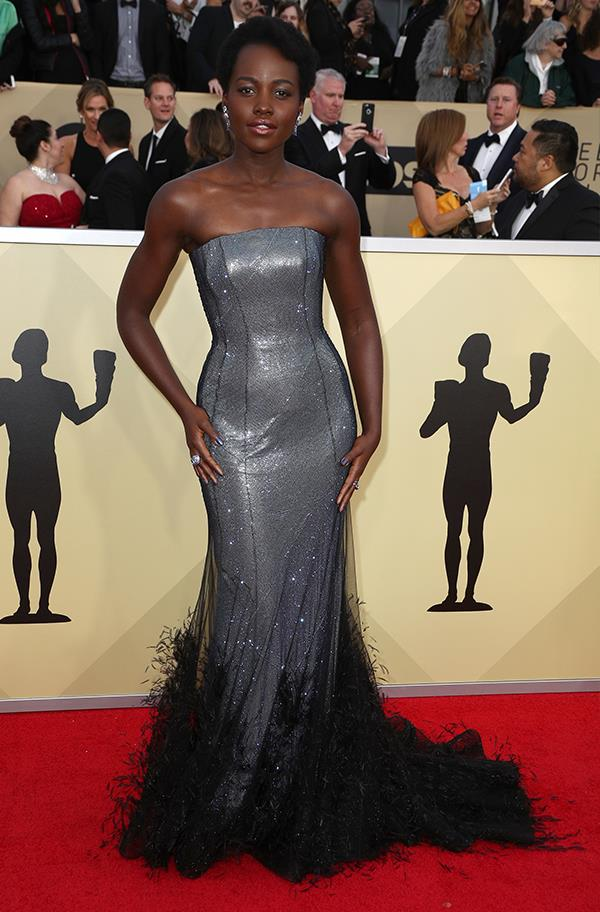 Lupita Nyong'o at the 2018 SAG Awards.