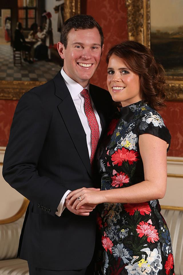 "**Princess Eugenie and Jack Brooksbank** <br><br> On Jan. 22, 2018, it was announced that Princess Eugenie, the younger daughter of Sarah Ferguson and Prince Andrew, [is engaged to Jack Brooksbank](https://www.harpersbazaar.com.au/culture/princess-eugenie-engagement-photos-15588|target=""_blank""), her long-time boyfriend. The couple actually met during a ski trip in Verbier, Switzerland, seven years ago, and in a televised interview Eugenie said it was ""love at first sight."" ""We met when I was 20, he was 24,"" she explained. ""[We] fell in love. We have the same passions and drive for life."" The couple got engaged in Nicaragua, and their wedding will take place in the second half of 2018 at St George's Chapel in Windsor—the same chapel where Prince Harry and Meghan Markle are getting married."