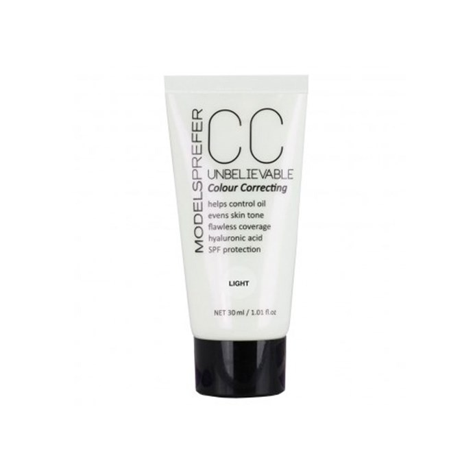 """**Models Prefer CC Unbelievable Colour Correcting Cream, $17 at [Priceline](https://www.priceline.com.au/models-prefer-cc-unbelievable-colour-correcting-cream-30-ml