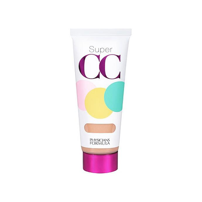 """**Physicians Formula Super CC+ Color-Correction + Care CC+ Cream SPF 30, $15 at [Amazon](https://www.amazon.com/Physicians-Formula-Color-Correction-Medium-Ounces/dp/B00HUA6LCO?th=1