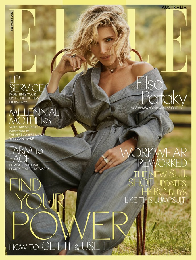 Elle Australia's February issue hits stands on January 25.