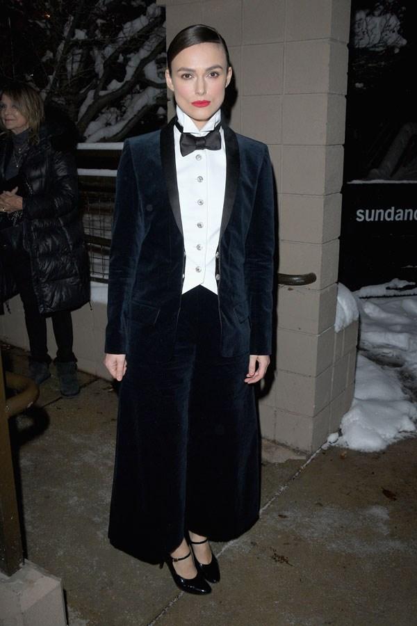 Keira Knightley in Chanel at 2018 Sundance Film Festival