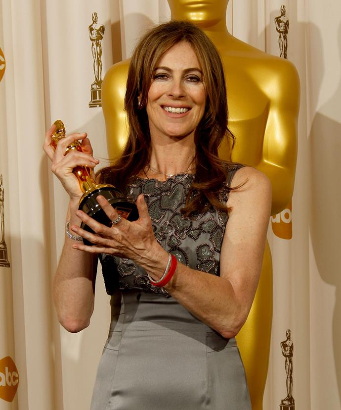 **Kathryn Bigelow, *The Hurt Locker*, 2010** <br><br> In 2010, Bigelow made history as the first woman to ever win the Best Director Oscar for her Iraq War thriller *The Hurt Locker*. An added bonus? She beat her ex-husband, *Avatar* (and *Titanic*) director James Cameron, to the prize. He congratulated her and commended her filmmaking skills.