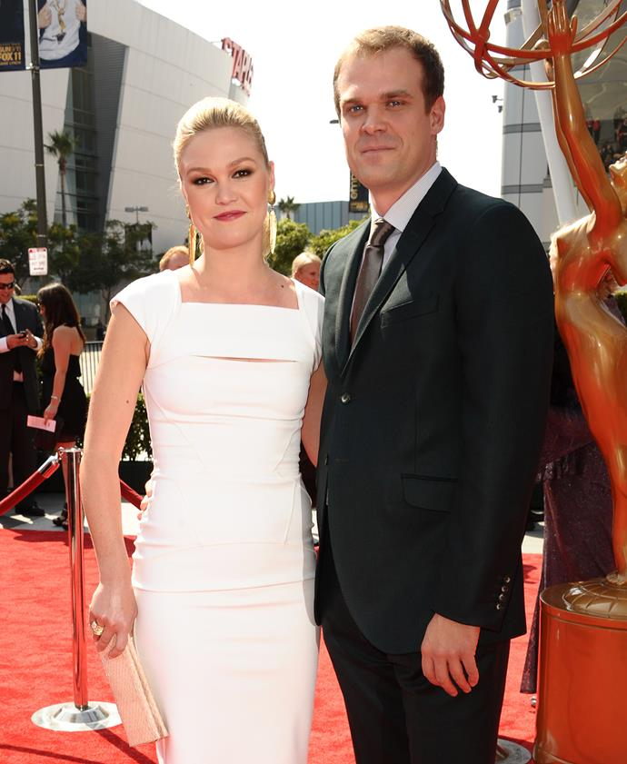 **Ex-Girlfriend: Julia Stiles** <br><br> In a moment of realisation that shook the world, in a harmless hunt for David Harbour pictures, we realised that he was once in a very serious relationship with '90s movie legend, Julia Stiles. The two dated for four years (between 2011 and 2015) whilst they were living in New York. No one knows why the pair decided to split, but Stiles now has a son with her husband, Preston J. Cook.
