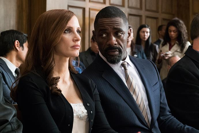 Jessica Chastain and Idris Elba in *Molly's Game*