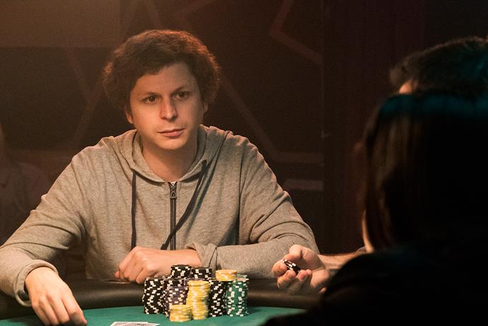 Michael Cera as Player X in *Molly's Game*