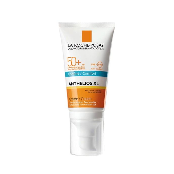 "La Roche-Posay Anthelios XL Comfort Cream SPF50+, $29 at [Priceline](https://www.priceline.com.au/brand/la-roche-posay/la-roche-posay-anthelios-xl-comfort-cream-spf50-50-ml|target=""_blank""|rel=""nofollow"")"