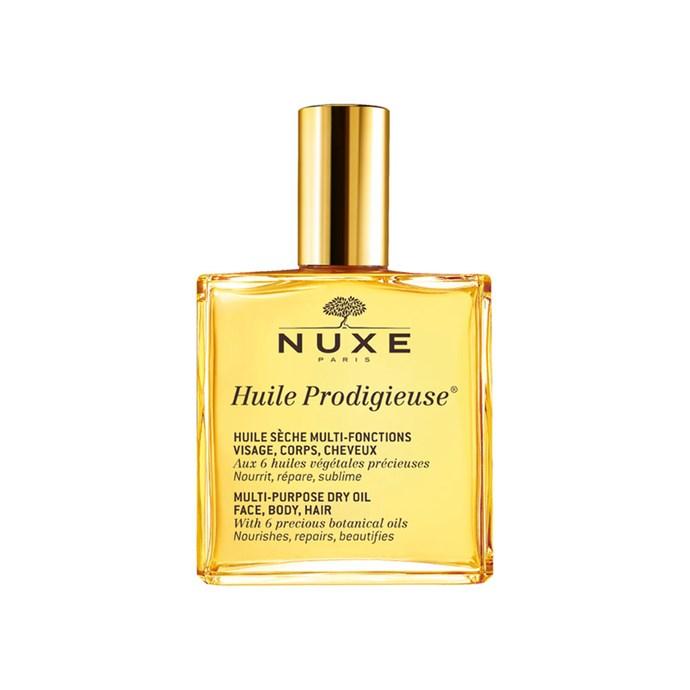 "Nuxe Huile Prodigieuse Multi-Purpose Dry Oil 100ml, $43 at [Adore Beauty](https://www.adorebeauty.com.au/nuxe/nuxe-huile-prodigieuse-multi-purpose-dry-oil-100ml.html?gclid=CjwKCAiAweXTBRAhEiwAmb3Xu4tal7hUhHa9LDiBOwBmx1k0X90F-niKfiYDnFv5MPaNvjj12qMmMRoCl7sQAvD_BwE|target=""_blank""|rel=""nofollow"")"