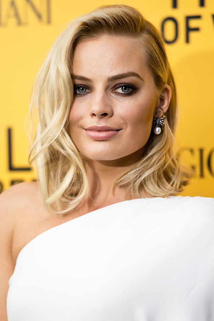 With the release of *TheWolf Of Wall Street* came a dramatic aesthetic change for Robbie. The actress chopped her hair into a blonde lob, a style she still favours to this day. And we can't not mention that sultry, smoky eye.