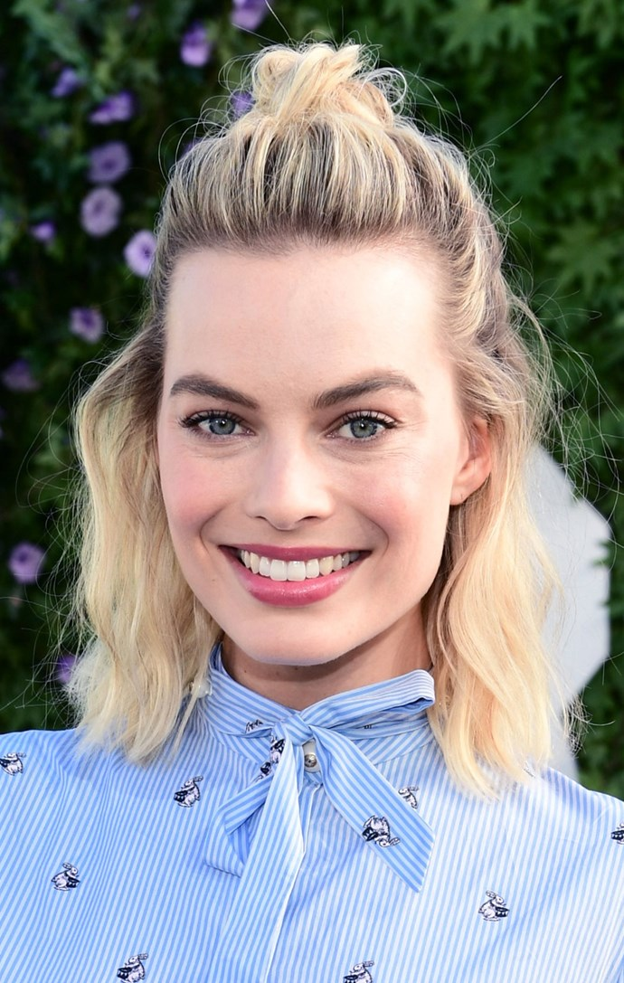 We're not always one for a half-up-half-down 'do, unless it's Margot Robbie wearing one.