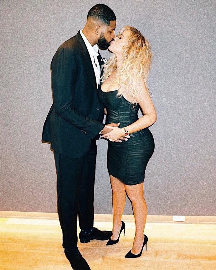 """**Baby Kardashian-Thompson** <br><br> Khloé Kardashian is expecting her first child with her professional basketball player boyfriend, Tristan Thompson. Neither parent-to-be have announced the sex or name of their baby, but Khloé has admitted on *Ellen* that if it's a boy, """"I'll go with Junior, Tristan Jr. but for a girl, I don't know where to begin. I wasn't a 'K' or a 'T'."""" She followed up the interview with a tweet to her millions of followers, confirming her indecisiveness by saying: """"I can barely decide what I want to eat. Let alone name a baby."""""""