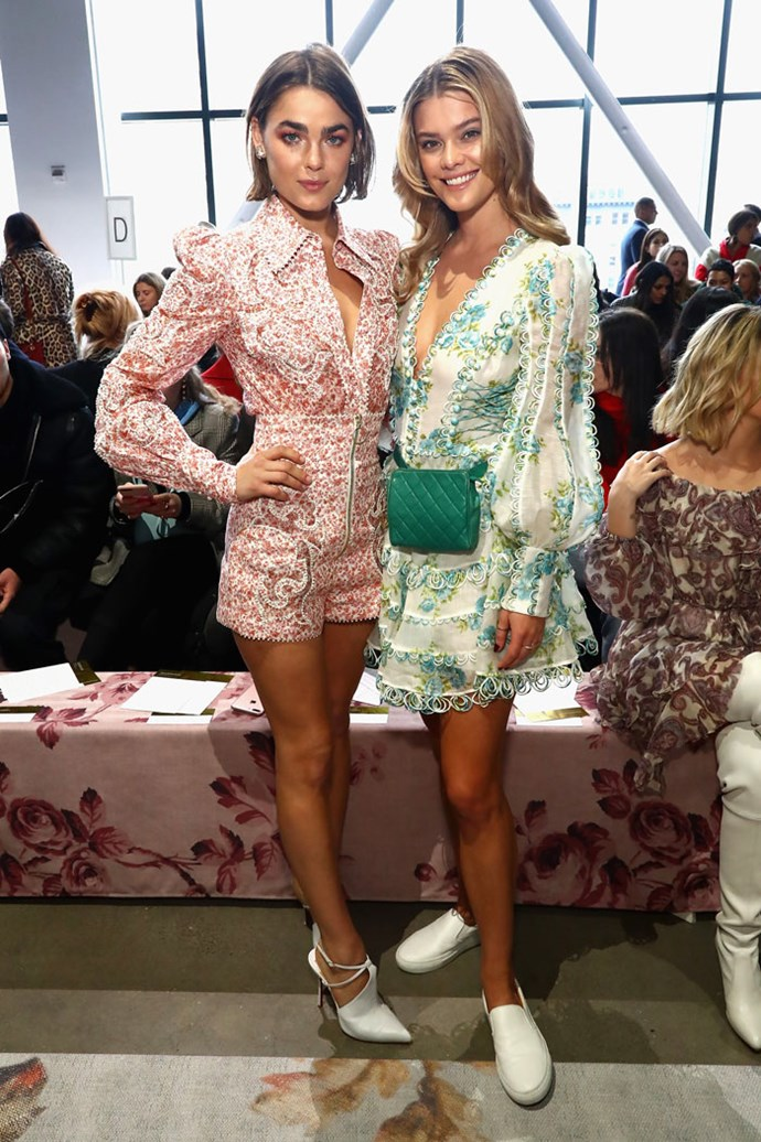 Bambi Northwood-Blyth and Nina Agdal front row at Zimmermann autumn/winter '18