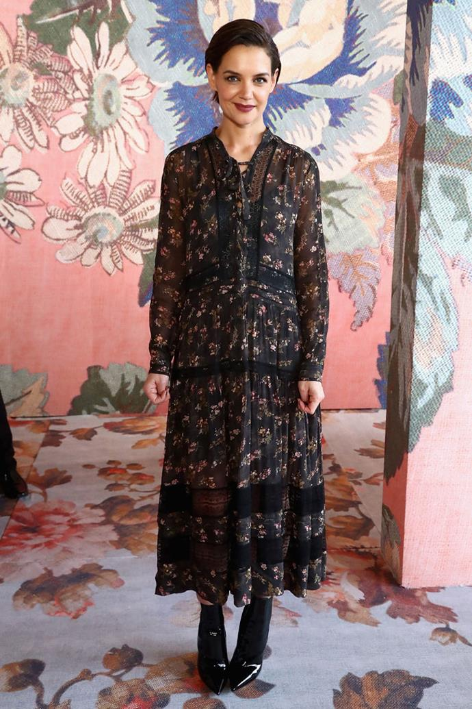 Katie Holmes attends the Zimmermann autumn/winter '18 NYFW show.