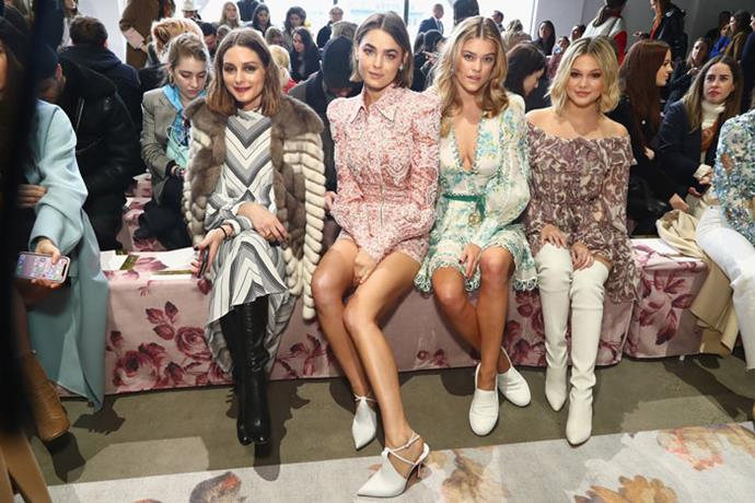 Olivia Palermo, Bambi Northwood-Blyth, Nina Agdal and guest attend the Zimmermann autumn/winter '18 NYFW show.