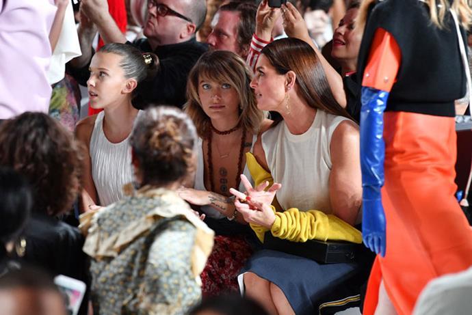 Millie Bobby Brown, Paris Jackson and Brooke Shields attend the Calvin Klein autumn/winter '18 NYFW show.