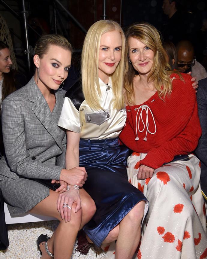 Margot Robbie, Nicole Kidman and Laura Dern attend the Calvin Klein autumn/winter '18 NYFW show.