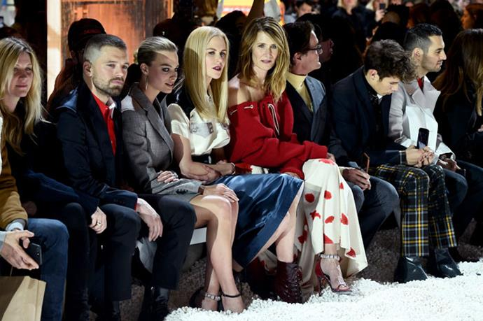 Sebastian Stan, Margot Robbie, Nicole Kidman and Laura Dern attend the Calvin Klein autumn/winter '18 NYFW show.