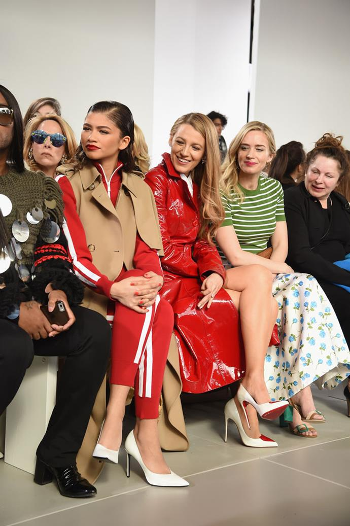 Zendaya, Blake Lively and Emily Blunt attend the Michael Kors autumn/winter '18 NYFW show.