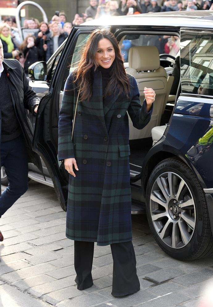 Meghan Markle in *Burberry*