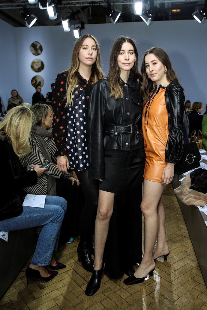 Haim attends the JW Anderson show at London Fashion Week 2018.
