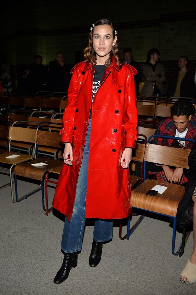 Alexa Chung at Burberry autumn/winter '18.