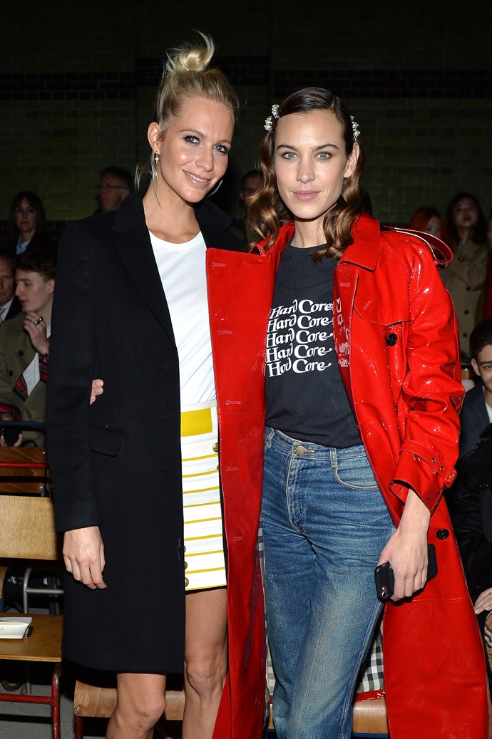 Poppy Delevingne and Alexa Chung at Burberry autumn/winter '18.
