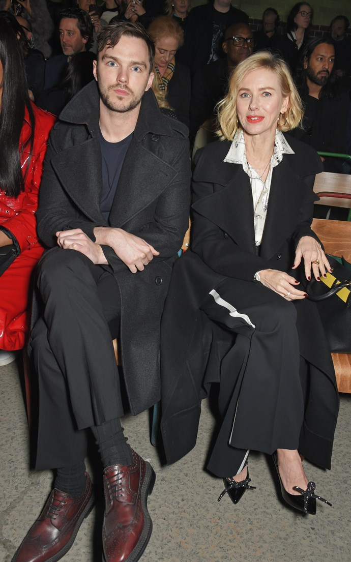 Nicholas Hoult and Naomi Watts at Burberry autumn/winter '18.