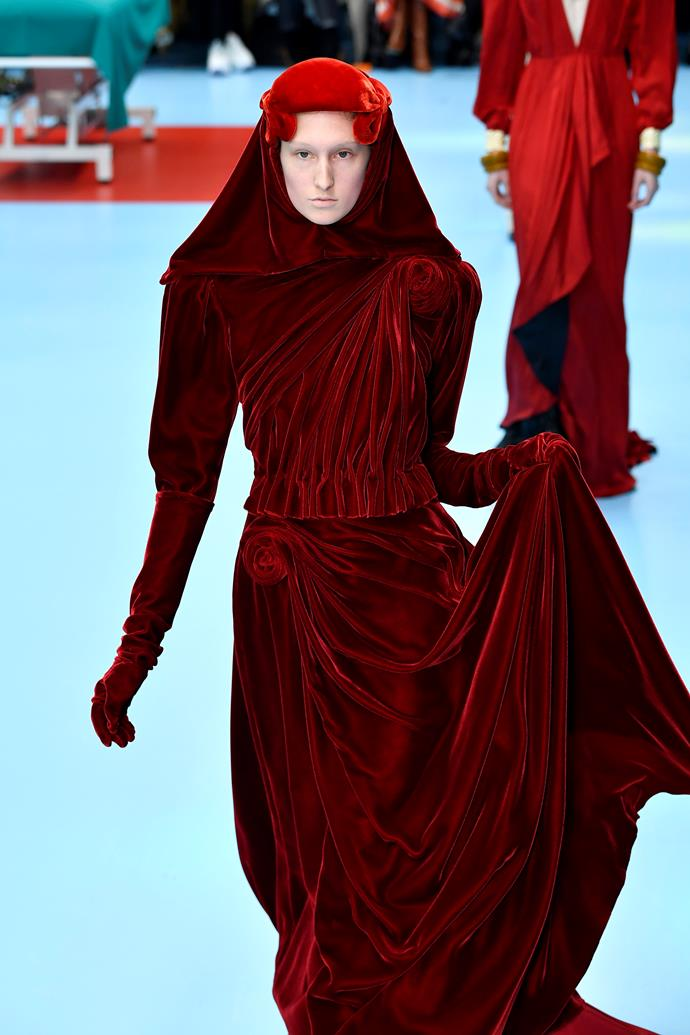 The red lady.  Gucci autumn/winter '18 at Milan Fashion Week.