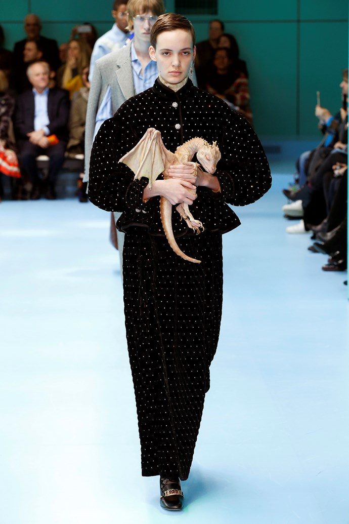 Mother of Dragons.  Gucci autumn/winter '18 at Milan Fashion Week.
