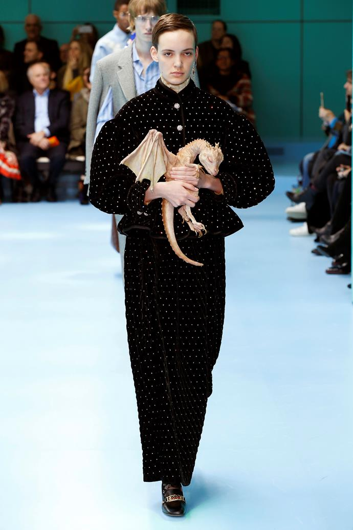 Mother of Dragons.  Gucci autumn/winter '18 at Milan Fashion Week.