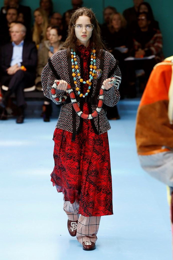 Ode to the Sand Snakes.  Gucci autumn/winter '18 at Milan Fashion Week.