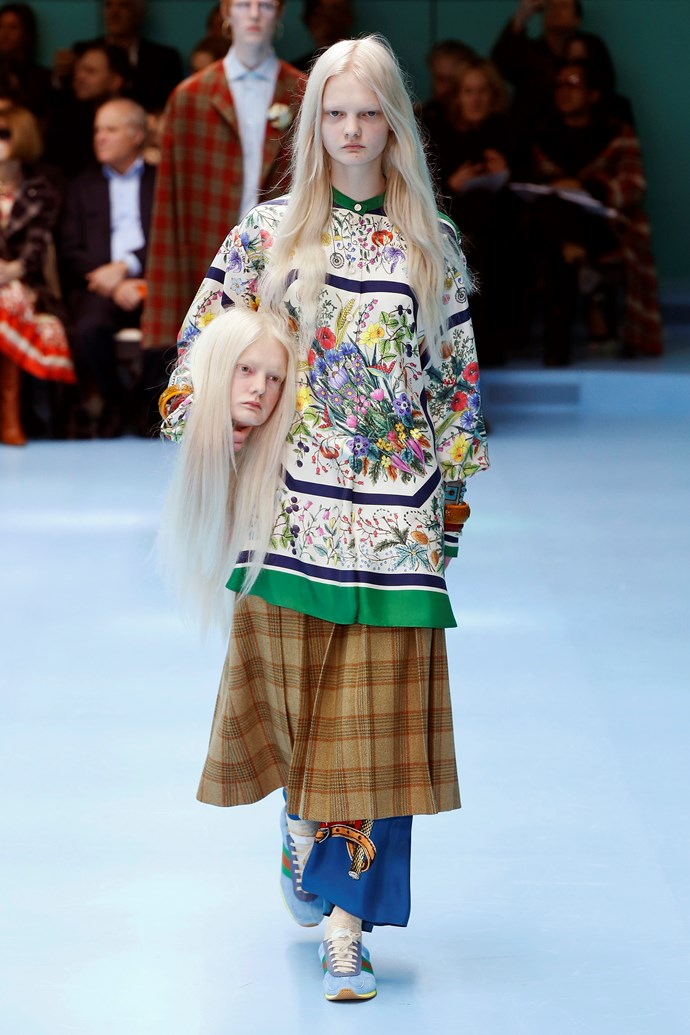 Getting headless with Ned Stark.  Gucci autumn/winter '18 at Milan Fashion Week.