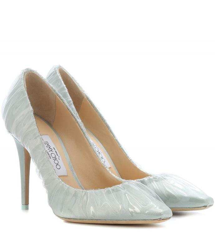 "Jimmy Choo x Off-White Anne 100 Satin Pumps, $1,175 from [mytheresa.com](https://www.mytheresa.com/en-au/jimmy-choo-anne-100-satin-pumps-956919.html|target=""_blank"")"