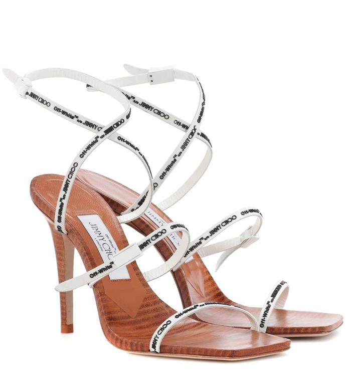 "Jimmy Choo x Off-White Jane 100 Sandals, $1,319 from [mytheresa.com](https://www.mytheresa.com/en-au/jimmy-choo-jane-100-sandals-956863.html|target=""_blank"")"
