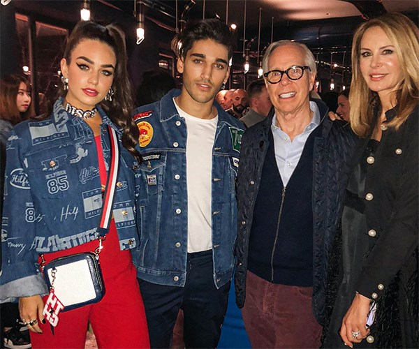 Cartia, Josh Heuston, Tommy and Dee Hilfiger.