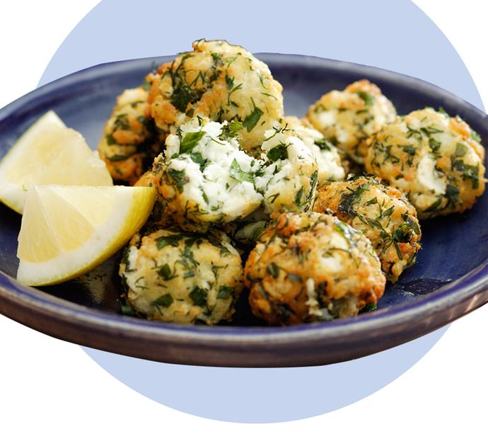 "Whether enjoyed over drinks with the girls or as an office snack, these fetta seasoned balls won't disappoint. View the recipe [here](http://www.foodtolove.com.au/recipes/seasoned-feta-balls-6195|target=""_blank"")."