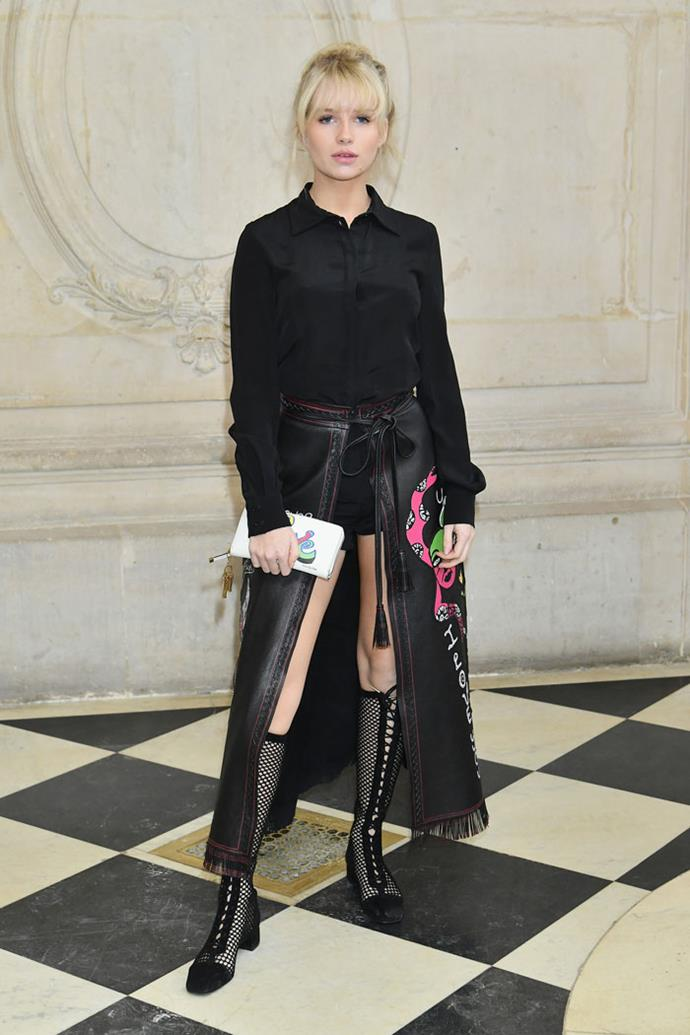 Lottie Moss front row at Dior autumn/winter '18