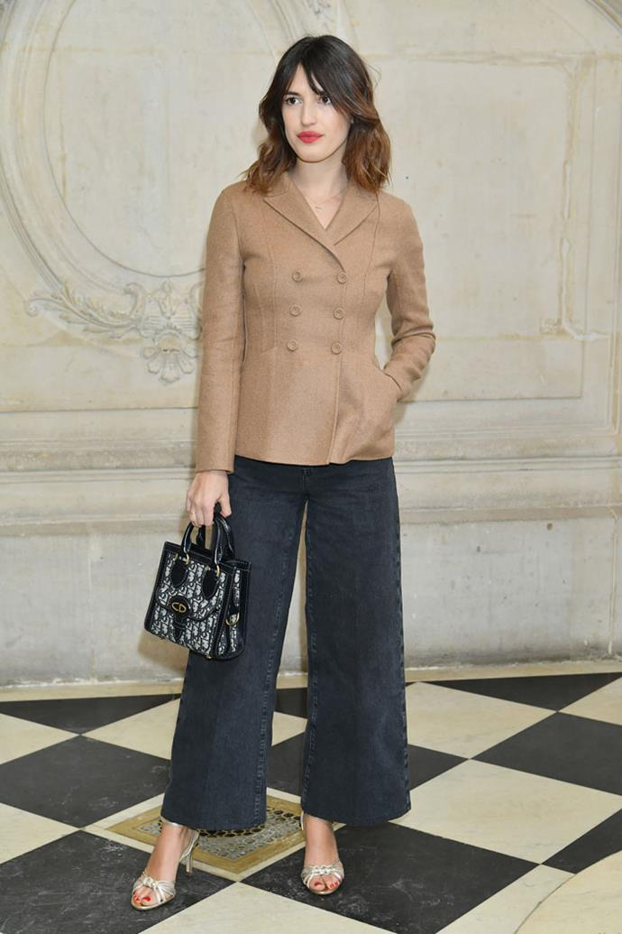 Jeanne Damas front row at Dior autumn/winter '18