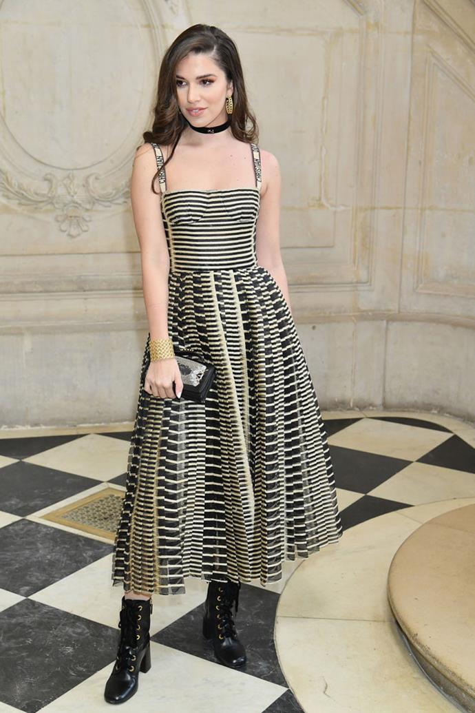 Lara Scandar front row at Dior autumn/winter '18