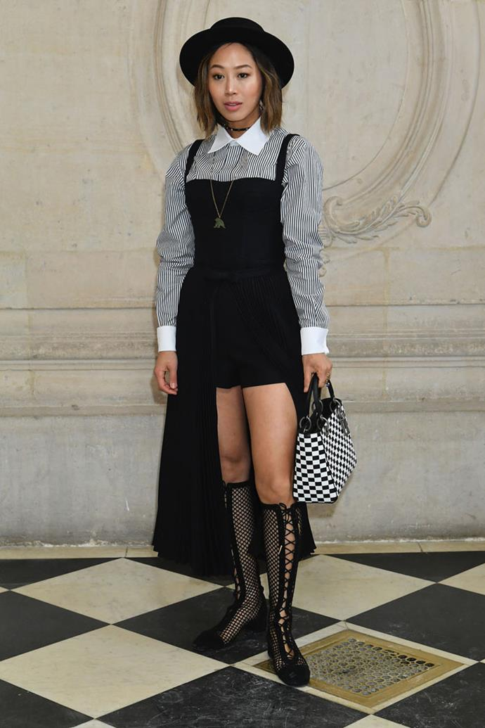 Aimee Song front row at Dior autumn/winter '18