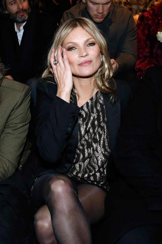 Kate Moss front row at Saint Laurent autumn/winter '18