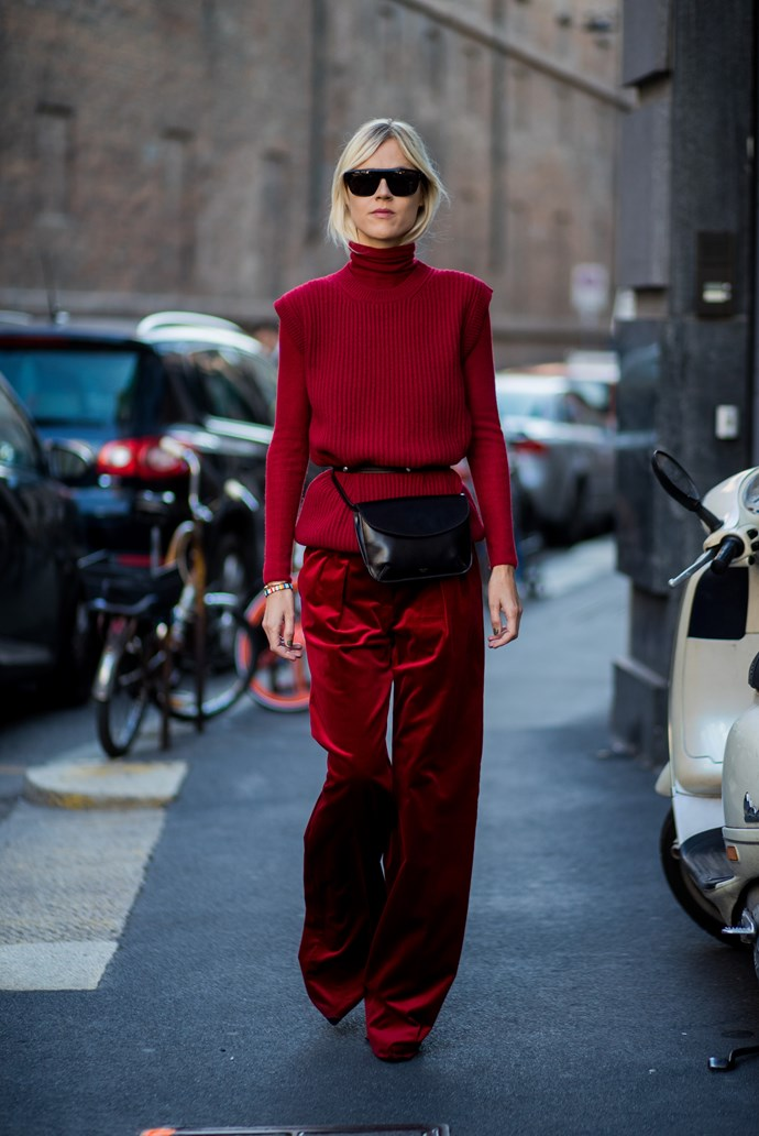 **Head to toe red**