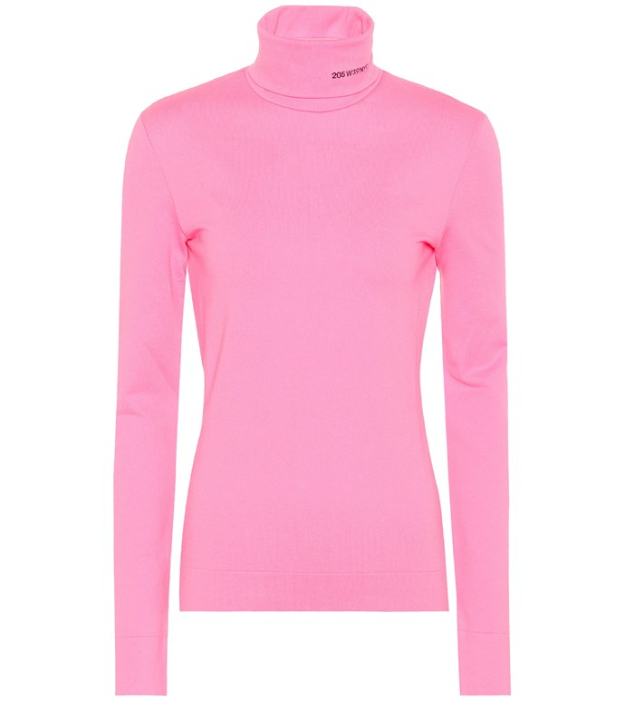 """**Buy:** Top by Calvin Klein 205W39NYC at [Mytheresa](https://www.mytheresa.com/en-au/calvin-klein-205w39nyc-cotton-turtleneck-top-935162.html?catref=category