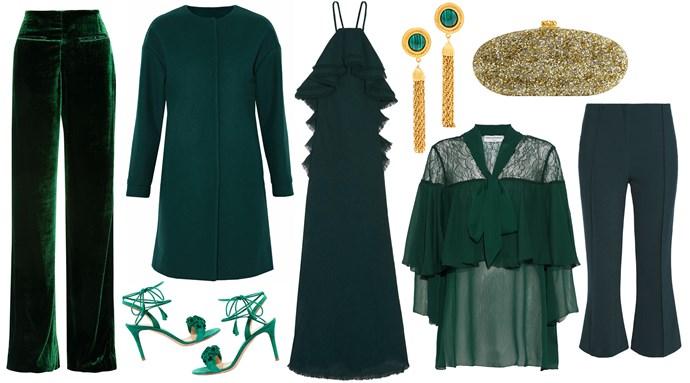 "Velvet trousers, [Haider Ackermann](https://www.theoutnet.com/shop/clothing/evening?cm_mmc=Brand-Advertising-_-UK-Havas_SS18-_-1x1_Impression & ClickTracker-_-2018Partnership-_-x1|target=""_blank""|rel=""nofollow""); Wool coat, [MSGM](https://www.theoutnet.com/shop/clothing/evening?cm_mmc=Brand-Advertising-_-UK-Havas_ElleUK-_-Product18_MSGM-_-2018Partnership-_-1x1|target=""_blank""|rel=""nofollow""); Shoe, [Gianvito Rossi](https://www.theoutnet.com/shop/shoes ?cm_mmc=Brand-Advertising-_-UK-Havas_ElleUK-_-Product20_GianvitoRossi -_-2018Partnership-_-1x1|target=""_blank""|rel=""nofollow""); Ruffle gown, [Jason Wu](https://www.theoutnet.com/shop/clothing/evening?cm_mmc=Brand-Advertising-_-UK-Havas_SS18-_-1x1_Impression & ClickTracker-_-2018Partnership-_-x1|target=""_blank""|rel=""nofollow""); Pussy-bow blouse, [Perseverance](https://www.theoutnet.com/shop/clothing/evening?cm_mmc=Brand-Advertising-_-UK-Havas_ElleUK-_-Product22_Perseverance-_-2018Partnership-_-1x1|target=""_blank""|rel=""nofollow""); Trousers, [Malene Birger](https://www.theoutnet.com/shop/clothing/evening?cm_mmc=Brand-Advertising-_-UK-Havas_SS18-_-1x1_Impression & ClickTracker-_-2018Partnership-_-x1|target=""_blank""|rel=""nofollow""); Earrings, [Ben-Amun](https://www.theoutnet.com/shop/accessories ?cm_mmc=Brand-Advertising-_-UK-Havas_ElleUK-_-Product21_Bel-Amun-_-2018Partnership-_-1x1|target=""_blank""|rel=""nofollow""); Clutch bag, [Edie Parker](https://www.theoutnet.com/shop/bags ?cm_mmc=Brand-Advertising-_-UK-Havas_ElleUK-_-Product24_EdieParker-_-2018Partnership-_-1x1|target=""_blank""|rel=""nofollow"") - all from [THE OUTNET.COM](https://www.theoutnet.com/en-au|target=""_blank""|rel=""nofollow"")."