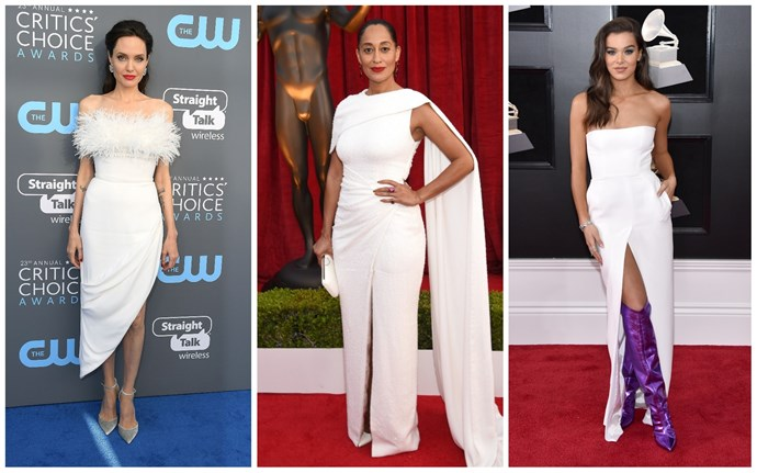 Angelina Jolie in Ralph & Russo; Tracee Ellis Ross in Ralph & Russo; Hailee Steinfeld in Alexandre Vauthier.