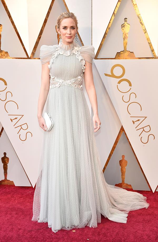Emily Blunt in Schiaparelli couture