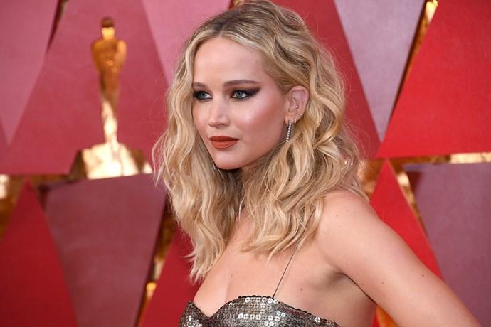 Jennifer Lawrence at the 2018 Oscars.